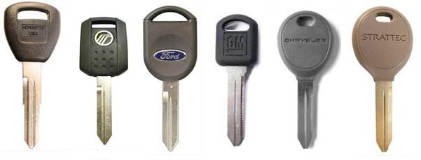 Vehicles often use Transponder Keys