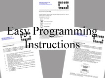 Keyless Entry Onboard Programming Instructions