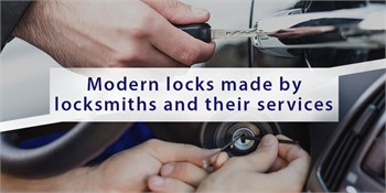 Modern locks made by locksmiths and their services